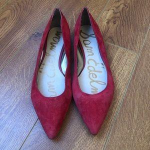 Sam Edelman Red Pointy Toe Flats